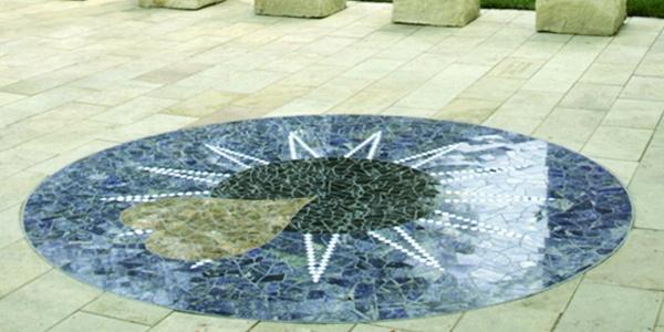 Donor Memorial Healing Garden eye mosaic